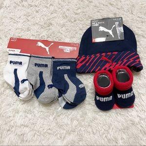 Puma Baby Boy Socks and Hat Bundle
